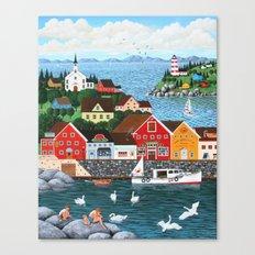 Swan's Cove Canvas Print