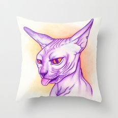 Sphynx cat #02 Throw Pillow