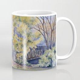 Naperville Covered Bridge in Fall Coffee Mug