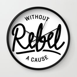Rebel without a cause Wall Clock