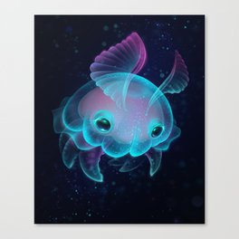 Biscuit, The Deep Sea Jelly Bun Canvas Print