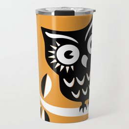 Cute Night Owl Illustration Travel Mug