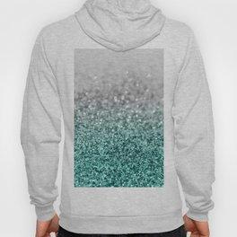 Silver Teal Ocean Glitter Glam #1 #shiny #decor #art #society6 Hoody