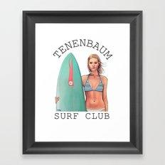 Tenenbaum Surf Club Framed Art Print