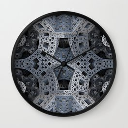 Fractal Art - spaceship drive Wall Clock