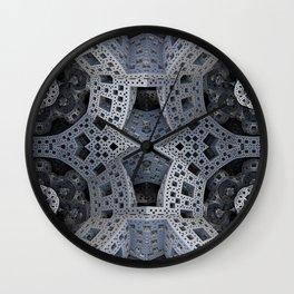 Fractal Art - spaceship drive Wall Clock