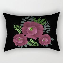 Burgundy roses. Rectangular Pillow