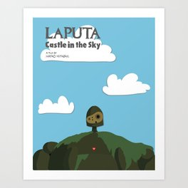 Laputa Castle in the Sky Art Print