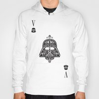 card Hoodies featuring Darth Vader Card by Sitchko Igor