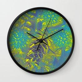 Lemon coloured Wall Clock