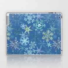 icy snowflakes on blue Laptop & iPad Skin
