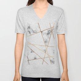 Marble Geometry 054 Unisex V-Neck
