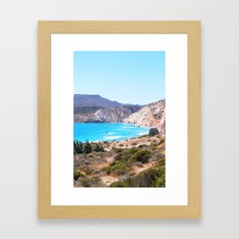 233. Tsigrado View, Greece Framed Art Print