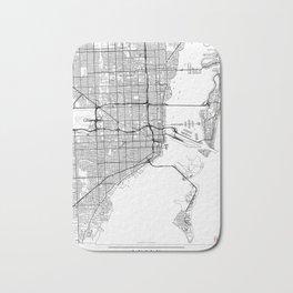 Miami Map White Bath Mat