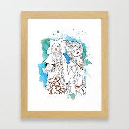 Gypsies- Jade Framed Art Print