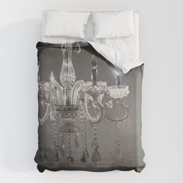 chandelier in NYC Duvet Cover