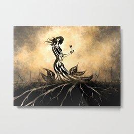 Woman in Gown Metal Print