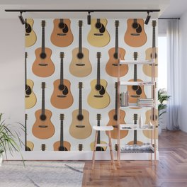 Acoustic Guitars Pattern Wall Mural