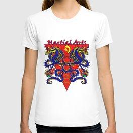 Martial Arts Dragons, Body Mind Spirit  T-shirt