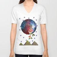 oriental V-neck T-shirts featuring Oriental by Nasaém