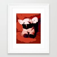 silence of the lambs Framed Art Prints featuring The Silence of the Lambs by Lior Blum