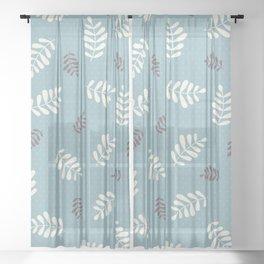 Falling Leaves – Blue Sheer Curtain