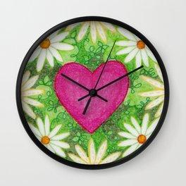 I heart Daisys Wall Clock