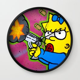 Don't Mess With Baby Wall Clock