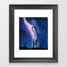 galaxy love Framed Art Print