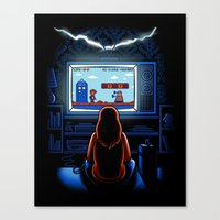 8bit Canvas Prints featuring 8bit Who by Bamboota