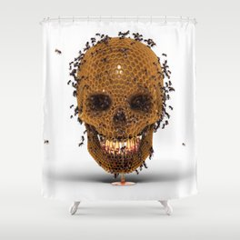 Honey Skull Shower Curtain