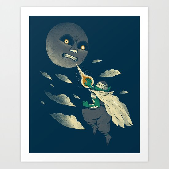 how to defeat the moon Art Print