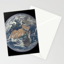 1276. 'EPIC' View of Africa and Europe from a Million Miles Away Stationery Cards
