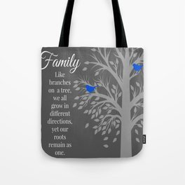 Family Tree Quote Art Tote Bag