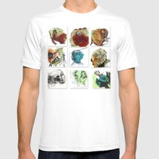 absurd Mens Fitted Tee SMALL White