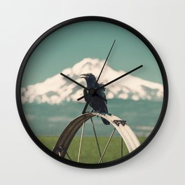 Mt. Jefferson Raven Wall Clock