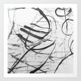wild black strokes Art Print