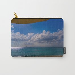 Seaside Under Umbrellas Carry-All Pouch