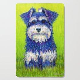 Colorful Miniature Schnauzer Dog Pet Portrait Cutting Board