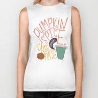 spice Biker Tanks featuring Pumpkin Spice by Chelsea Herrick