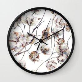 Cotton Boll Wall Clock