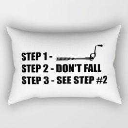 Ice Climbing - Don't Fall Rectangular Pillow