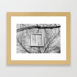 The Hanging Window Framed Art Print