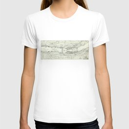 Vintage Map of The Hoover Dam (1930) T-shirt