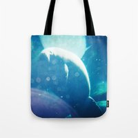 manatee Tote Bags featuring Manatee by Emily