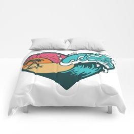 Wave Heart Comforters