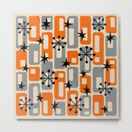 Mid Century Modern Atomic Sparkles 252 Metal Print