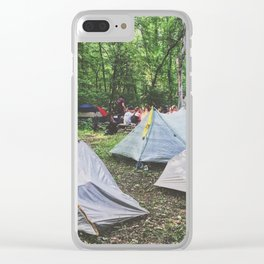 Tent City •Appalachian Trail Clear iPhone Case