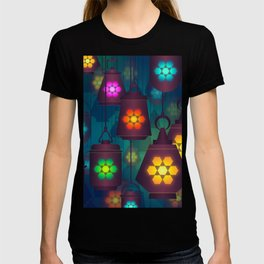 Colorful Lanterns Pattern T-shirt