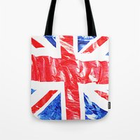 uk Tote Bags featuring UK by arnedayan